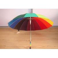 Quality Stick Rainbow Folding Umbrella / Cloud Umbrella Big Size Leather Handle for sale