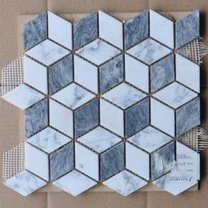 Quality Cubic Shaped External Garden Mosaic Tiles Border Mosaic Path Tiles For Kitchen Backsplash for sale
