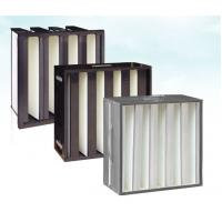 Buy cheap Plastic(ABS) Frame Mini-pleat Filter Glassfiber Hepa V Bank Filters from wholesalers