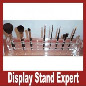 Quality Unique design! Acrylic cosmetic display racks, makeup brush display, acrylic box for makeup brush for sale
