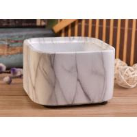 Quality Square Shaped Ceramic Candle Holder , Decorative Stackable Concrete Candle Vessel for sale