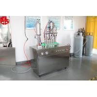 Quality Semi Auto Aerosol Filling Equipment / Aerosol Can Filling System 316 Stainless Steel for sale