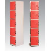 Quality ABS Material Coin Operated Lockers 5 Tier Red / Orange For Swimming Pool for sale
