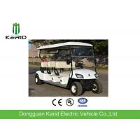 China White Color 6 Passenger Electric Street Legal Golf Carts For Club Battery Powered on sale