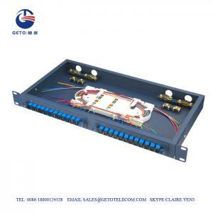 Quality Sliding Type Empty Box FC ST Fiber Optic Patch Panel 24 Port for sale