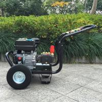 Quality 9hp 4 Stroke plunger pump gasoline high pressure washer / hot , cold water pressure washer for sale