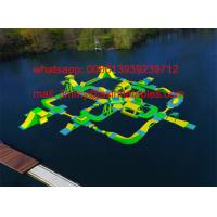 China 2017 New Adults Lake Inflatable Water Park On Water, Open Sea Floating Water Obstacle Course For Sale on sale