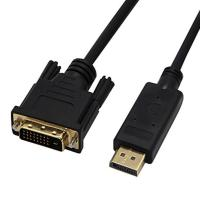 Quality 10Ft / 3 Meter Displayport Cable Male To DVI 24+1 Male Cable DP To DVI - D Adapter for sale