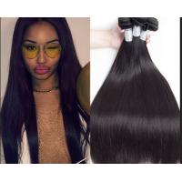 Quality Peruvian Original Straight Real Human Hair Weft No Shedding No Tangle 1b / Gray for sale