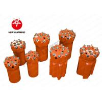 Buy Orange Alloy Steel Top Hammer Drill Bits , Thread Button Drill Bits ISO Approval at wholesale prices