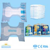 Quality PE Film Cover Thick Extra Absorbent Adult Disposable Diapers Printed / Chemical Free for sale