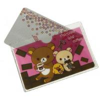Quality Customized cute printing transparent PVC plastic card holder / ID card holder for sale