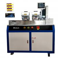 Buy cheap 3 Key Tags Servo motor Automatic Card Punching Machine / Puncher For CR80 from wholesalers