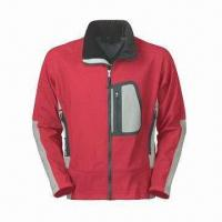 Quality Men's Outdoor Wear with Waterproof Zipper, Laser Cut Pocket and 3-layer Soft Shell for sale