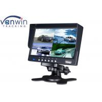 Quality 7 Inch Auto Accessory TFT Car Quad Monitor with 4 Video Cameras Inputs for sale