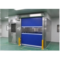 Quality SUS 304 Clean Room Equipments Cargo Air Shower Tunnel With Fast Rolling Door for sale