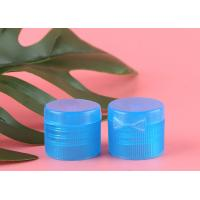 China Transparent Blue Shampoo Bottle Cap Butterfly Type Heat Resistance For Lotions on sale
