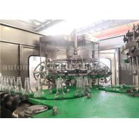 Quality Automatic Sparkling Wine / Whiskey / Vodka Glass Bottle Filling Machine Carbonated Water Bottling Plant for sale