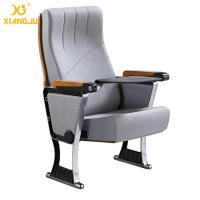 Buy cheap Upholstered Foldable Auditorium Theater Seating With Writing Pad for Conference Hall from wholesalers