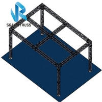 Quality 6082 T6 3m Length Modular Exhibition Stand Truss for sale