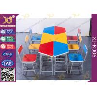 Quality Colorful Collaborative Study Spliced Desk And Chair For High School Student for sale
