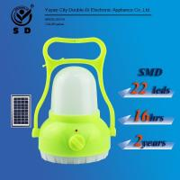 China 22leds Portable rechargeable solar lantern Emergency Lighting camping light on sale