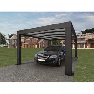 Quality Intelligent Garage Parking Shed / LED Solar Garage Automatic Carport Garden Door 5.52 x 3.52 x 2.4 m390 kg for sale