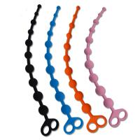 Quality 100% Medical Grade Silicone Anal Sex Toys Beads With Finger Loop for sale