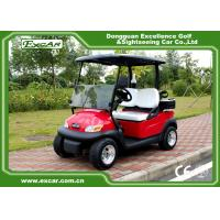 Quality Red color Trojan battery mini Electric Golf Car 48V buggy car for sale