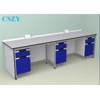 Quality Wood Steel Lab Furniture For School , laboratory Work Bench for sale