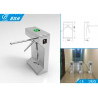 Quality Pedestrian Barrier Gate Malfunction Self - Inspection , Code Hinting Function Waist High Turnstile for sale