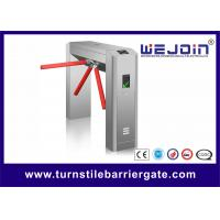 Quality Vertical Turnstile Access Control System , Semi Automatic Waist High Turnstile for sale