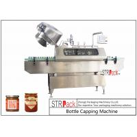 Quality Sauces Jam Glass Bottle Capping Machine , Twist Off Cap Vacuum Lug Capping Machine for sale