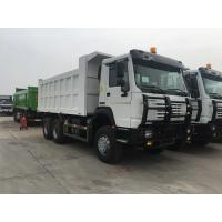 China 40t SINOTRUK HOWO white heavy dump truck with 336hp euro ii emission standard all wheel drive on sale