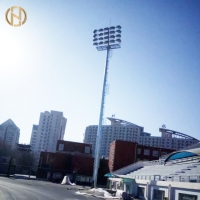 Quality Polygonal Shape 28M 36M 40M Galvanized High Mast Pole for sale