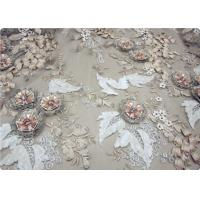 Quality Beautiful Bead Lace Overlay Fabric Furniture Upholstery Fabric for sale