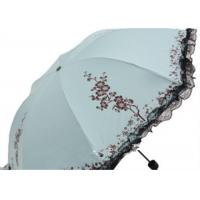 Buy cheap 4 four Folding Unique Rain Umbrellas Black Lace Lace Outdoor UV Protection with from wholesalers