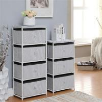 Quality Daily Necessities Bedroom Storage Units, CE Storage Shelving Units With Fabric Drawer for sale