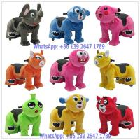 Quality Guangzhou Factory Battery Coin Operated Electric Stuffed Elephant Dog Animal Ride On Toys for sale