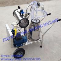 Buy For USA market,Vacuum Pump Typed Single Bucket Mobile Milking Machine, hot sale portable milking machine for small farms at wholesale prices