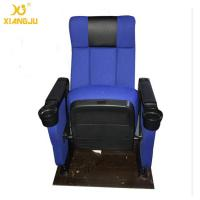 Quality Modern Luxury Hall Upwarp Seat Foldable Armrest PP Shell Cinema Theater Chairs for sale