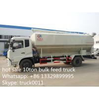 Quality cheapest price Dongfeng 10tons animal feed truck for sale, 20m3 dongfeng hydraulic feed truck for fish, pig farms for sale