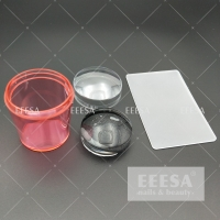 Quality Pink 3.5Cm Jelly Silicone 3D Nail Art Decoration Stamper for sale