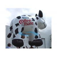 Quality Huge Inflatable Cow Helium Advertising Balloons With 38M Foot Long Tether Line for sale