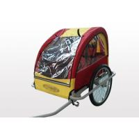 Quality 5 points safety belt protecting, feet rest and rear storage area Double Bike Trailers for sale