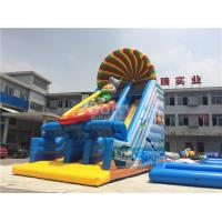 Buy cheap 0.55mm PVC Tarpaulin Commercial Inflatable Slide For Kids With Printing from wholesalers
