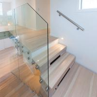 Quality Beautiful Foshan Internal Staircase Design /  Wooden Floating Staircase for sale