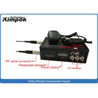 Quality Backpack 2.4Ghz Video Transmitter Army Training Audio Video Sender Low Delay for sale