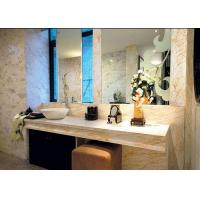 Quality Elegant Beige Marble Stone Countertops 124 MPa Compressive Strength for sale