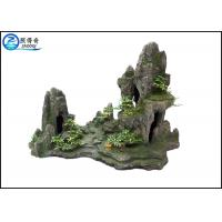 Quality Popular Man-made Rockery Fish Aquarium Craft , Polyresin Mountain Aquatic Ornaments for sale